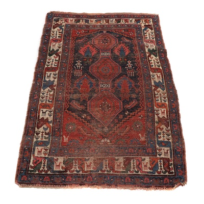 4'1 x 6'3 Hand-Knotted Northwest Persian Area Rug, circa 1900s