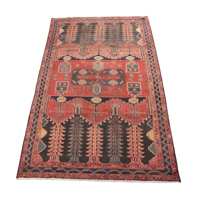 4'11 x 9'5 Hand-Knotted Northwest Persian Rug, circa 1940