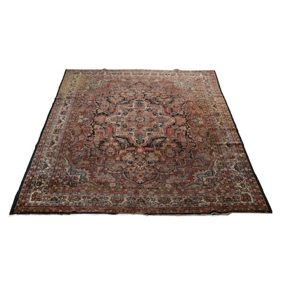 8'9 x 11'11 Hand-Knotted Persian Malayer Room Sized Rug, circa 1920