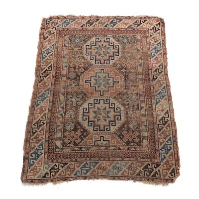 3'4 x 4'8 Handwoven Caucasian Kazak Area Rug