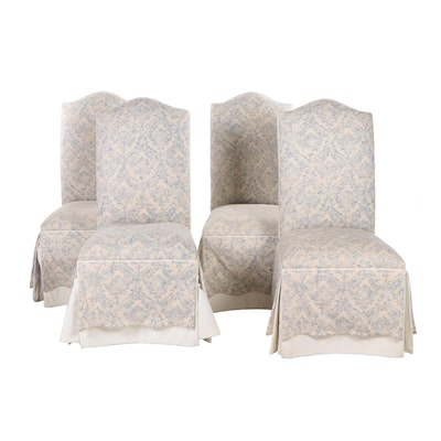 Four Ethan Allen Skirted Wooden Side Chairs, Contemporary