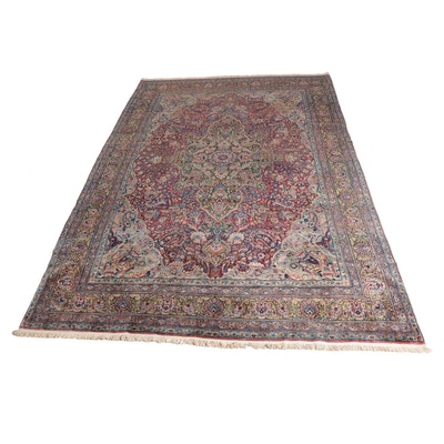 9'10 x 14'3 Hand-Knotted Persian Lavar Kerman Room Size Rug, circa 1910