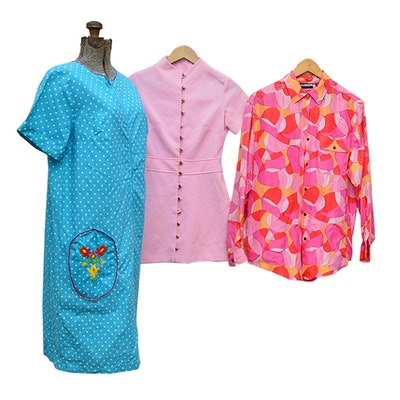 1960s Dresses with Diane Gilman Silk Blouse