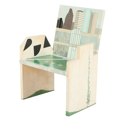 """Houston Chair"" Armchair Crafted & Painted by Houston Artist Adam St. John"