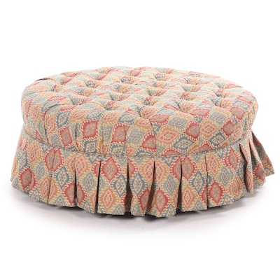 Ethan Allen Upholstered Pouf, Contemporary