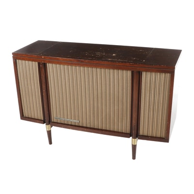 Motorola Mid-Century Console Record Player With Working Turntable & Speakers