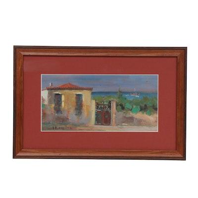 Mediterranean Landscape Oil Painting