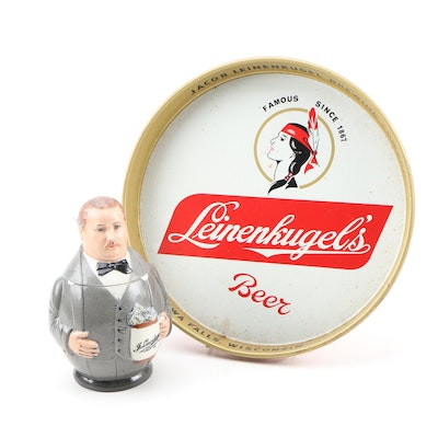 Limited Edition Founder of Leinenkugel Ceramic Stein and Serving Tray