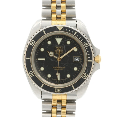 Vintage TAG Heuer 1000 Two Tone Quartz Wristwatch