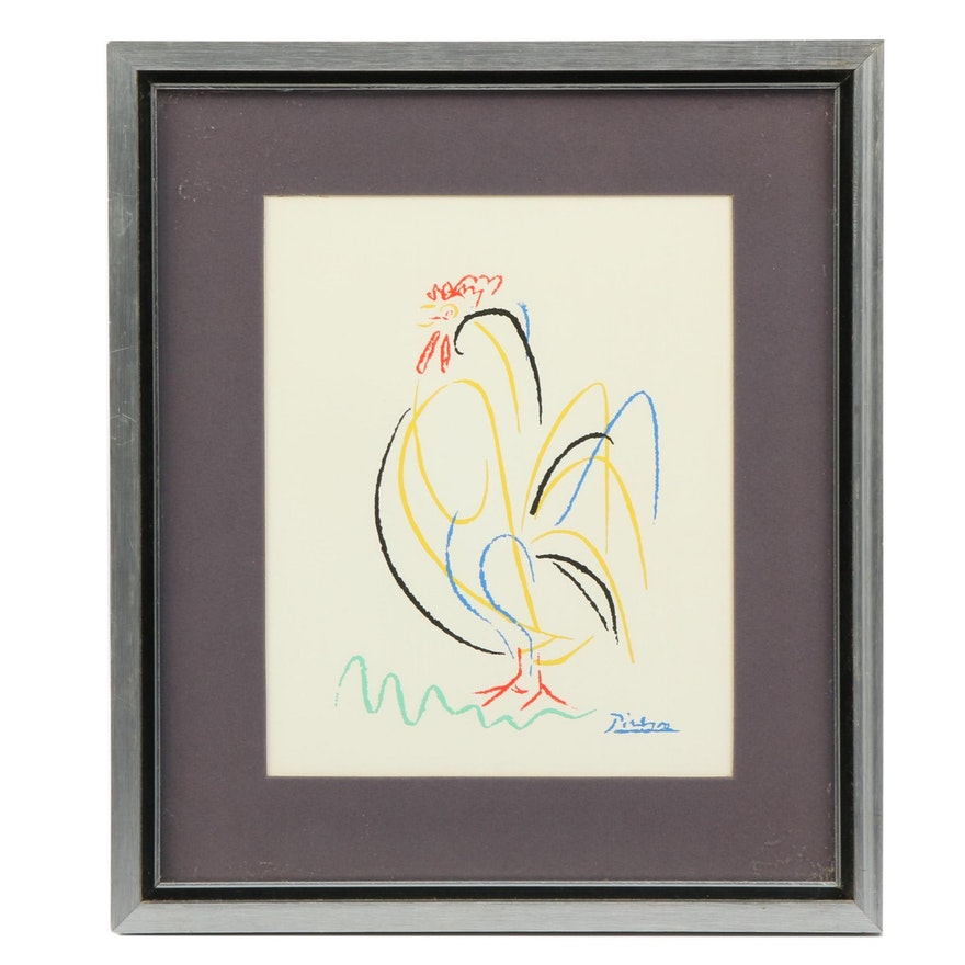 """Serigraph After Pablo Picasso """"Rooster"""""""