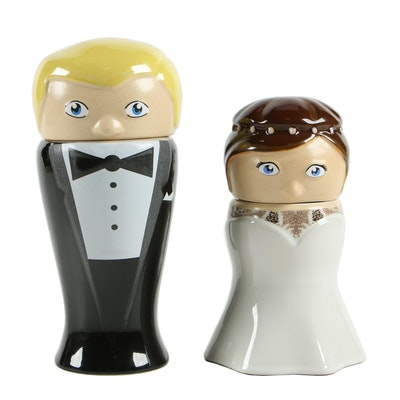 Matt Brewing Co. First Edition Bride and Groom Figural Beer Steins