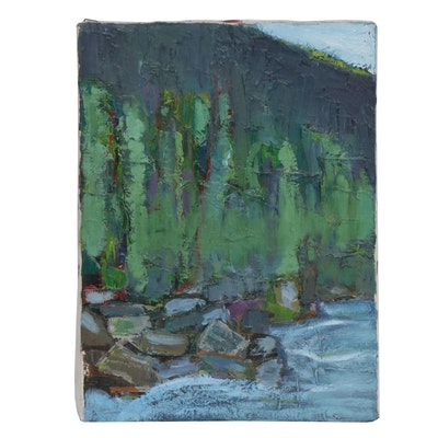 Impressionist Style Landscape Impasto Oil Painting