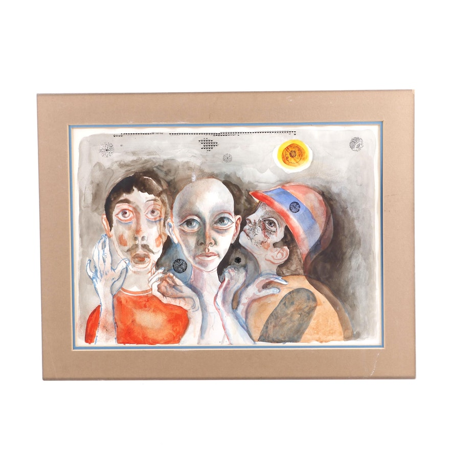 Figural Watercolor Painting
