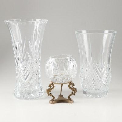 "Crystal D'Arques-Durand ""Masquerade"" Vases"