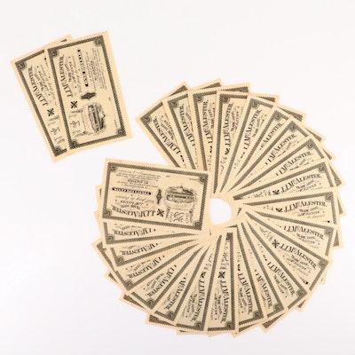 Twenty-Five J.J. McAlester 25-Cents Trade Notes