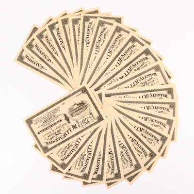 Twenty-Three J.J. McAlester 25-Cents Trade Notes