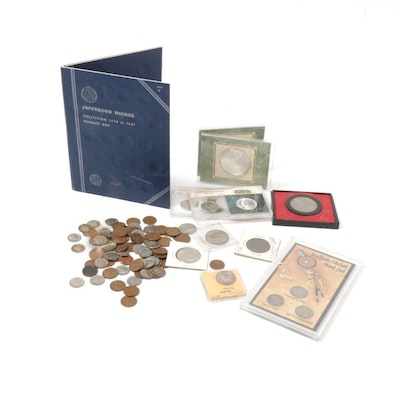 United States Coin Collection with Two Foreign Coins