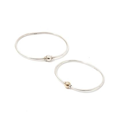 14K Gold & Sterling Silver Cape Cod Bracelets