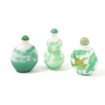 Chinese Peking Glass Snuff Bottles