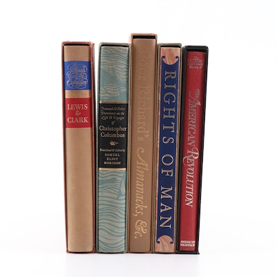 "Heritage Press Classic Books with ""Rights of Man"" and ""Lewis & Clark"""
