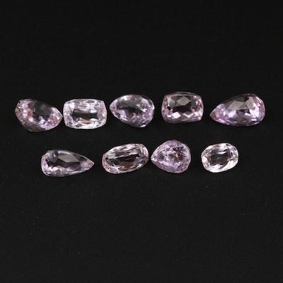 Loose 19.55 CTW Kunzite Gemstones