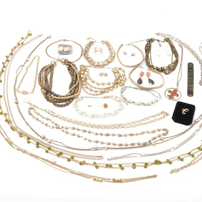 Gold Tone and Silver Tone Jewelry Assortment