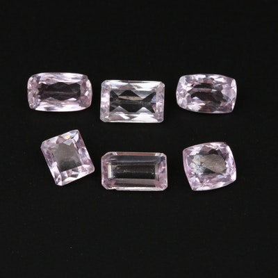 Loose 12.70 CTW Kunzite Gemstones