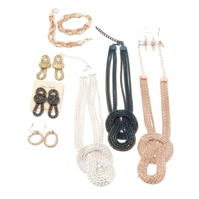 Knotted Metal Costume Jewelry Collection