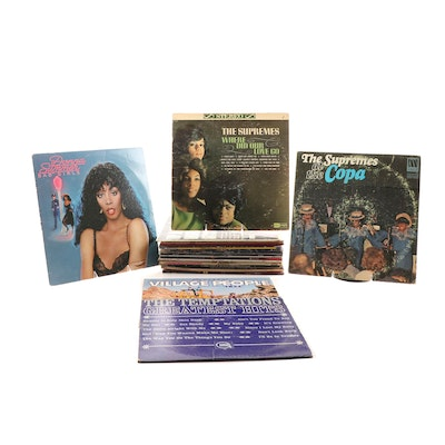Soul, R&B, and Disco LPs featuring Supremes, Temptations, and Donna Summer