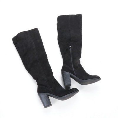 Dolce Vita Black Knee-High Block Heel Boots