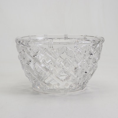 "Tiffany & Co. ""Bamboo"" Crystal Centerpiece Bowl"