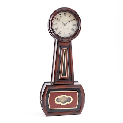 E. Howard & Co. Rosewood and Églomisé Banjo Clock, circa 1860