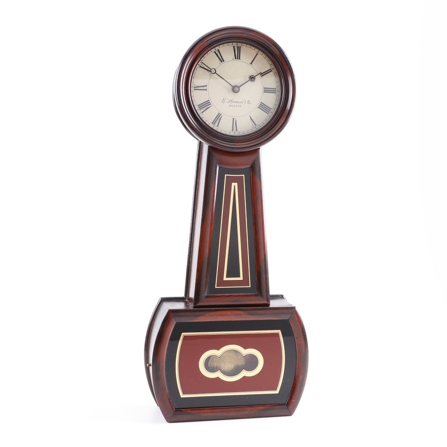 E. Howard & Co. Rosewood and Églomisé Banjo Clock, circa 1860