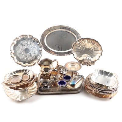 Silver Plated Serveware Including Gorham and W.M.Rogers