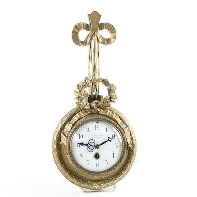 Baguès and Fils Gilt Bronze Cartel Clock