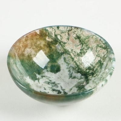 Moss Agate Miniature Bowl