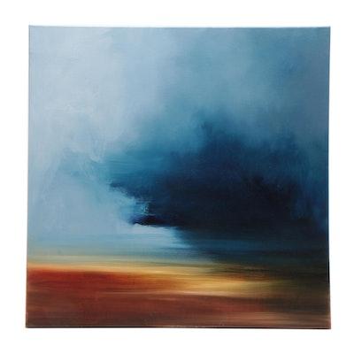 "Sarah Brown Abstract Oil Painting ""Turbulence"""