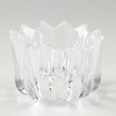 "Orrefors ""Fleur"" Crystal Bowl"