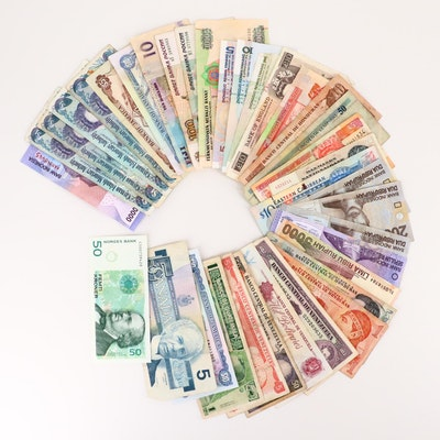 Thirty-Six Foreign Currency Notes