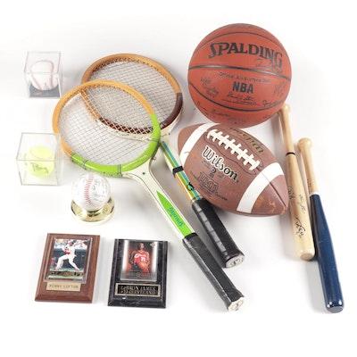 Sports Memorabilia feat. Lebron James Card, Cleveland Indians Autographs & More
