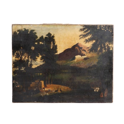 19th Century Pastoral Oil Painting
