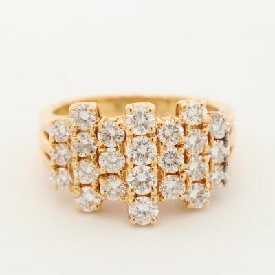 Oscar Heyman Brothers 18K Yellow Gold 1.32 CTW Diamond Ring