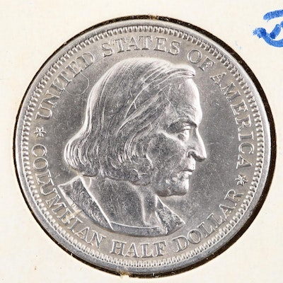 1893 Columbian Exposition Silver Half Dollar Commemorative Coin