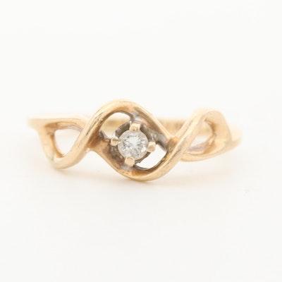 10K Yellow Gold Diamond Ring