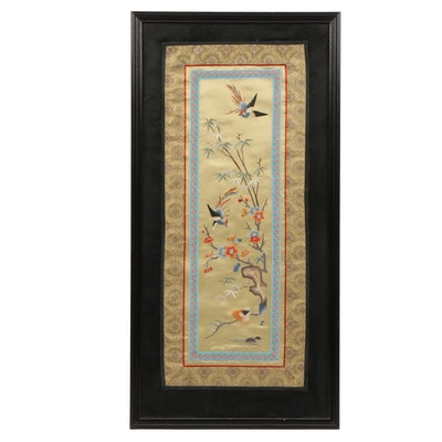 Chinese Embroidery of Birds and Trees