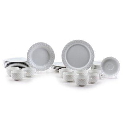 """Thomas """"Holiday White"""" Ceramic Dinnerware, Vintage"""