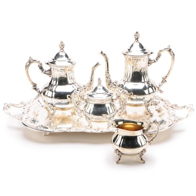 W & S Blackinton Silver Plate Five-Piece Tea and Coffee Set, Late 20th Century