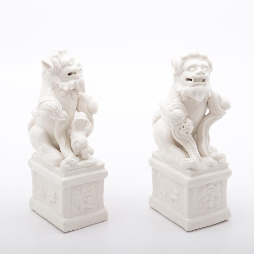 Chinese Ceramic Guardian Lion Figures