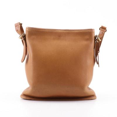 Coach Equestrian Tan Leather Shoulder Bag