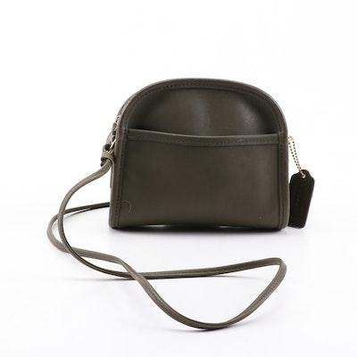 Coach Abbie Olive Green Leather Demi Shoulder Bag